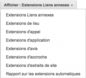 Extensions d'annonces Adwords
