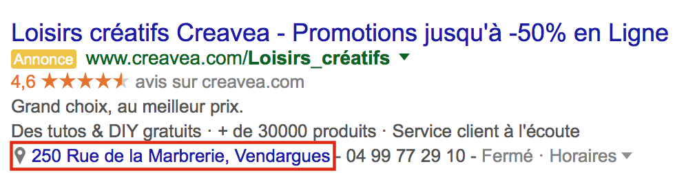 Extensions-lieu-adwords